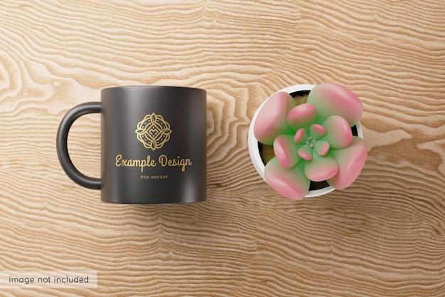 Belo design de maquete de copo preto