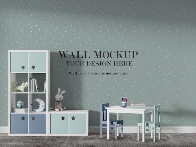 Belo design de maquete de parede de escola infantil