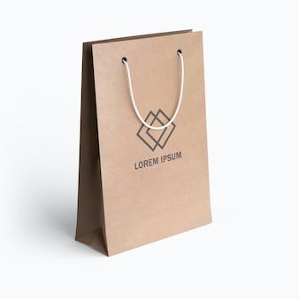 Belo design de maquete de saco de papel