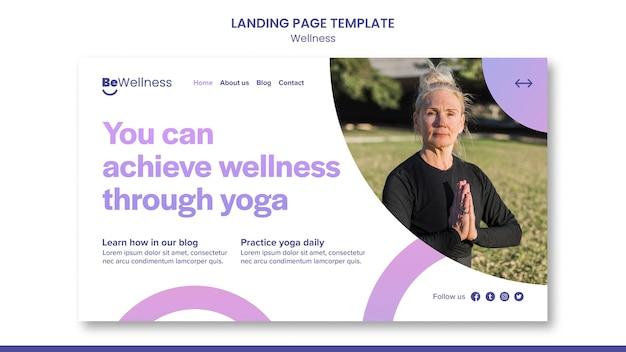 Bem-estar por meio da página inicial de ioga