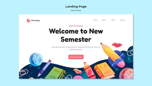 Bem-vindo à nova página de destino do semestre
