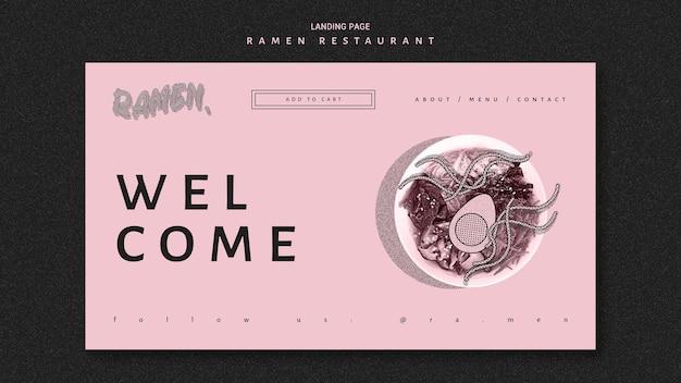 Bem-vindo à página de destino do restaurante ramen