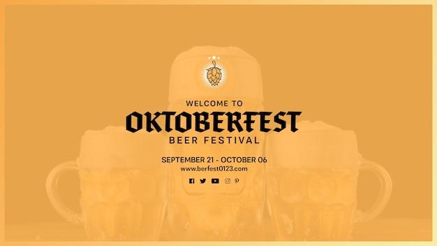 Bem-vindo ao modelo de festa da oktoberfest