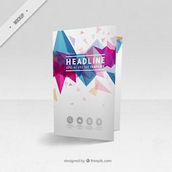 Bi-fold mockup panfleto de formas modernas