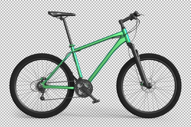 Bicicleta 3d isolada.