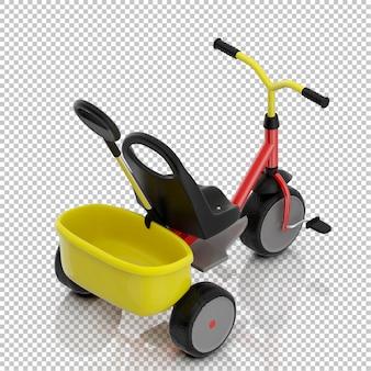Bicicleta garoto isométrica