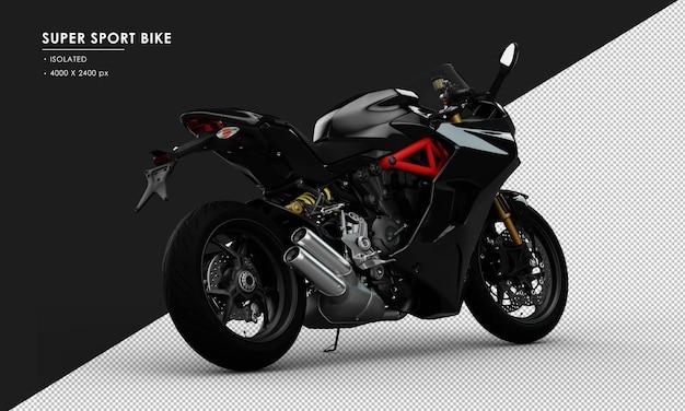 Bicicleta super sport isolada preta da visão traseira direita