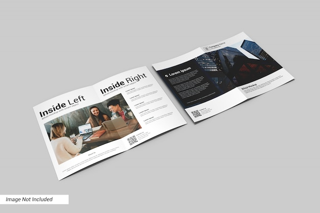 Bifold brochure mockup Psd Premium
