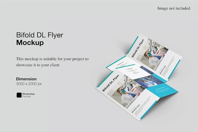 Bifold dl flyer mockup design