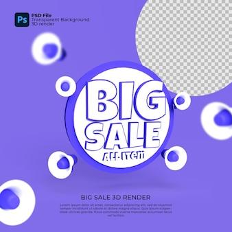 Big sale 3d render transparente