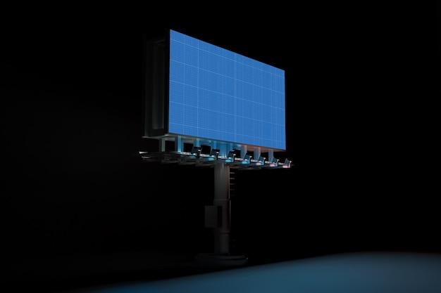 Billboard in dark