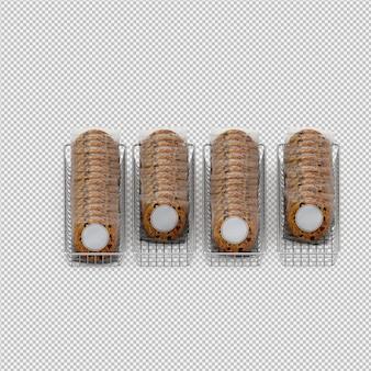 Biscoitos 3d isolado render