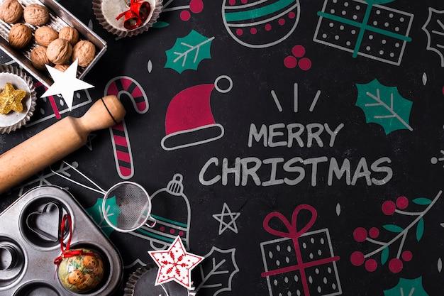 Biscoitos assados para o feriado de natal