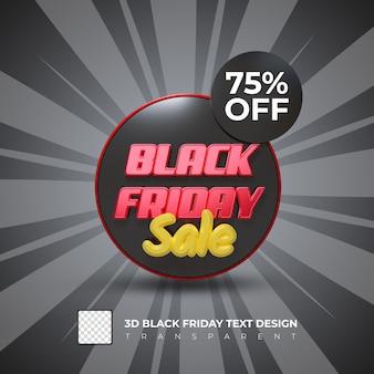 Black friday 70 off sale banner 3d