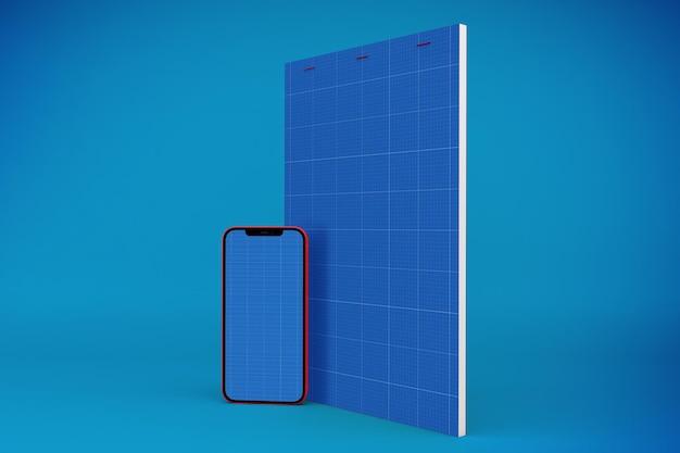 Bloco de notas e modelo de smartphone