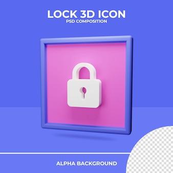 Bloquear a renderização do ícone de renderização 3d
