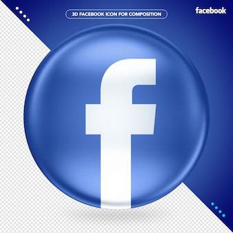Blue ellipse 3d no facebook