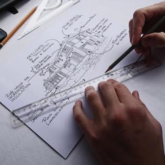 Blueprint apresentação realista