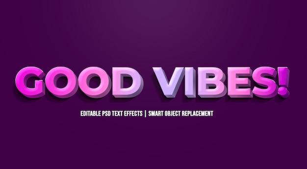 Boas vibrações - efeitos de texto gradiente modernos