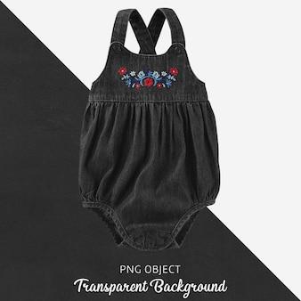 Body de brim preto transparente para bebê ou crianças