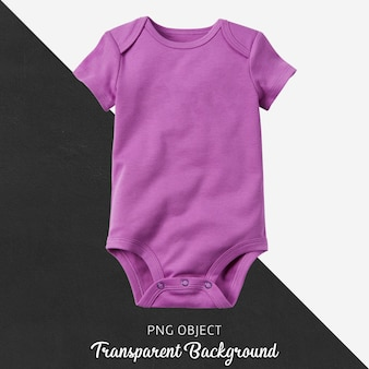Bodysuit roxo transparente do bebê