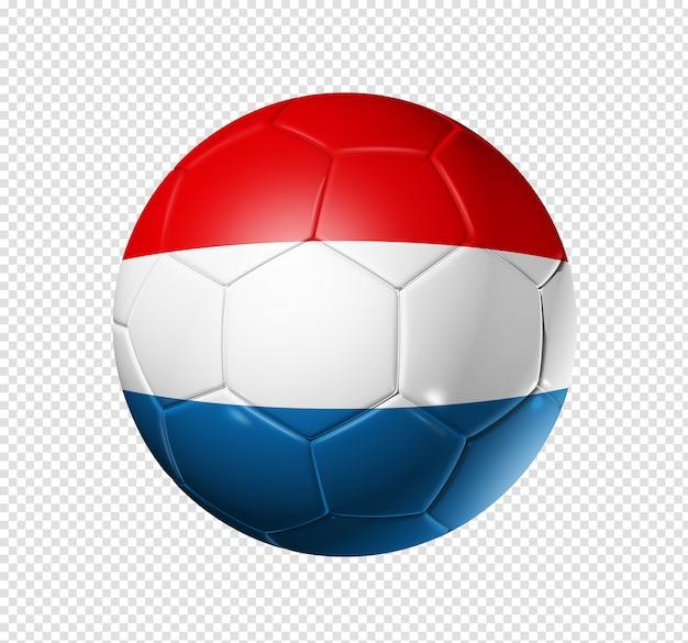 Bola de futebol com bandeira da holanda