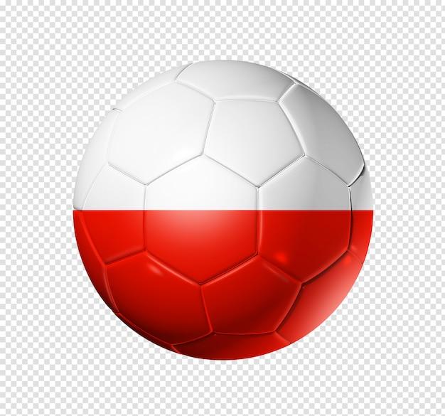 Bola de futebol com bandeira da polônia