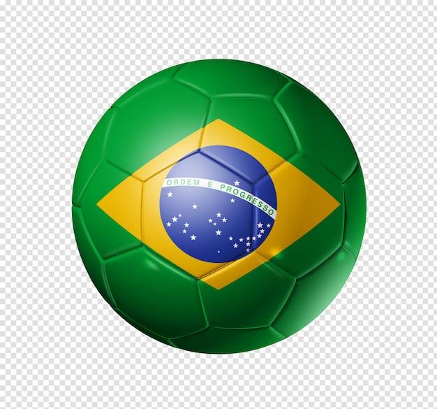Bola de futebol com bandeira do brasil