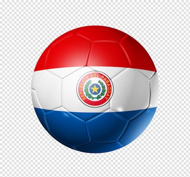Bola de futebol com bandeira do paraguai
