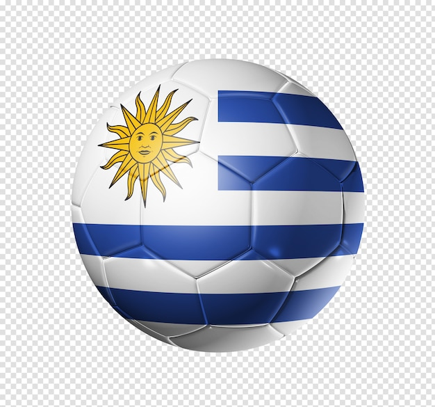 Bola de futebol com bandeira do uruguai