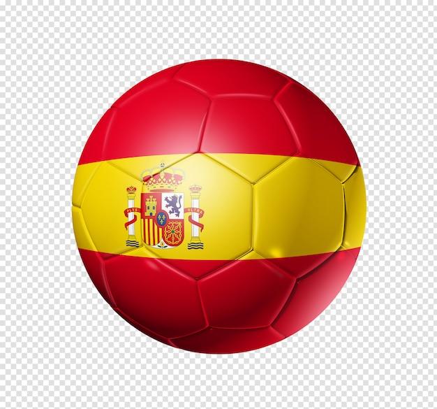 Bola de futebol com bandeira espanhola