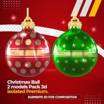 Bola de natal para composição em maquete de renderização 3d