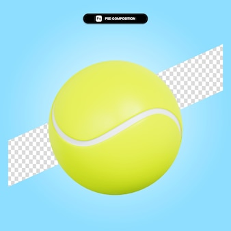 Bola de tênis ilustração 3d render isolada