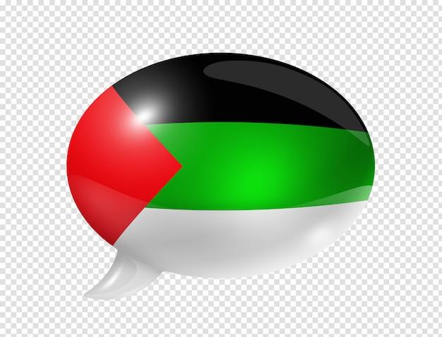Bolha de discurso de bandeira de língua árabe