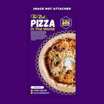 Bolo de pizza story design