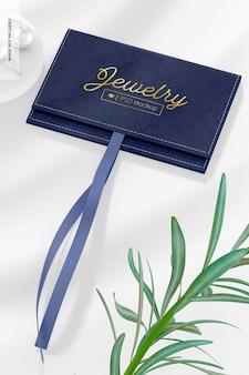 Bolsa de joias com maquete de cordão, perspectiva