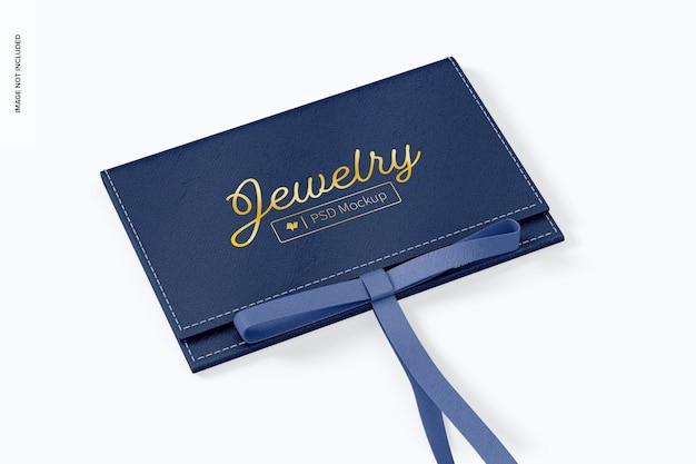 Bolsa de joias com maquete de cordão