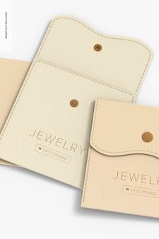 Bolsas de joias com maquete de botão