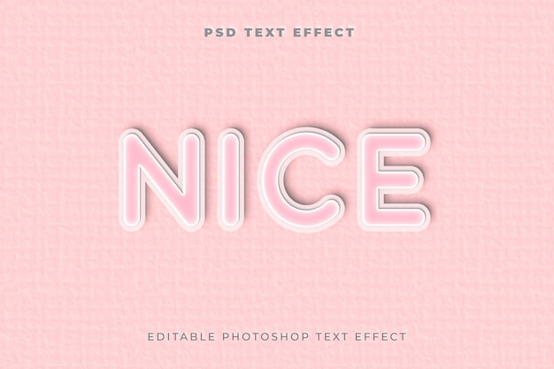 Bom modelo de efeito de texto Psd Premium