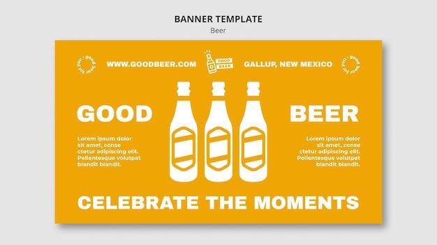 Bom modelo de web de banner de cerveja