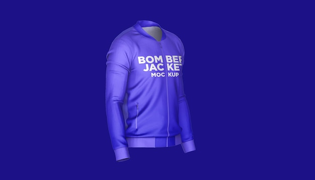 Bomber jacket vista lateral maquete