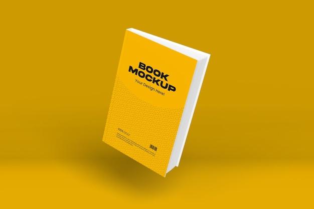 Book mockup design in 3d rendering
