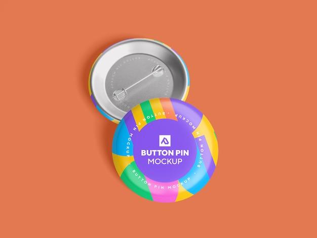 Botão de círculo brilhante pin mockup psd