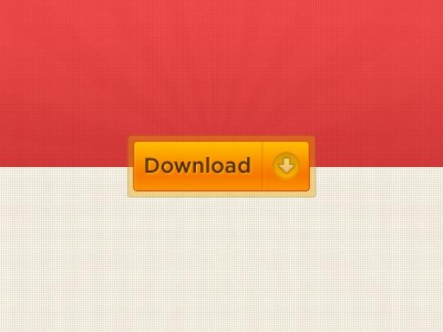 Botão de download internet em laranja