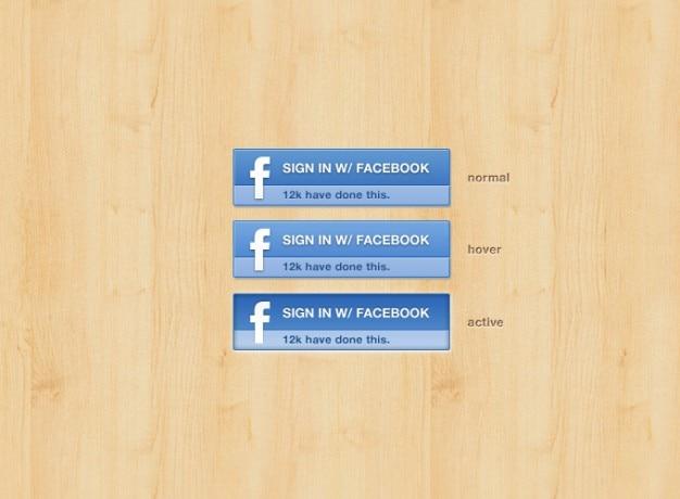 Botão facebook facebook facebook botão signin