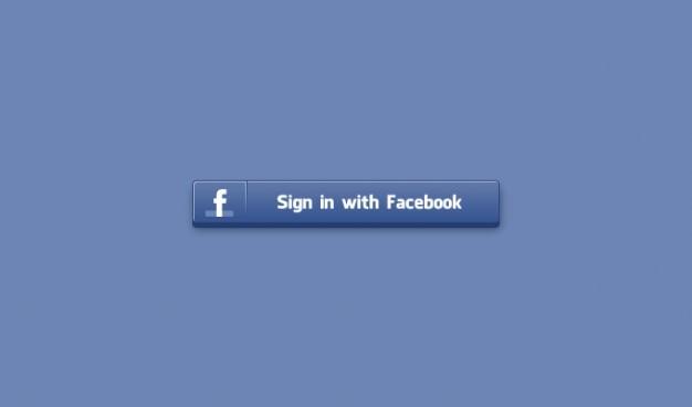 Botão social facebook botão