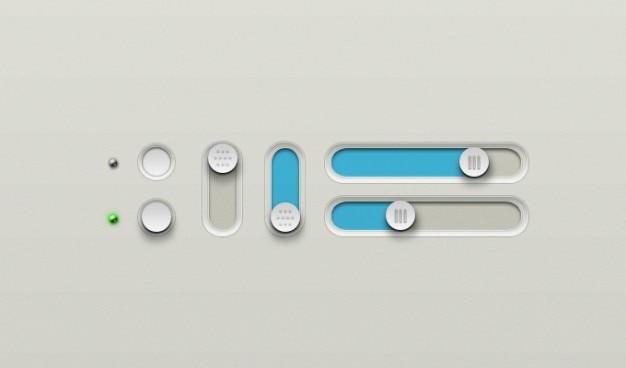 Botões botão de desligar deslizante sobre sliders slider