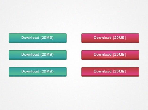 Botões de download da internet em duas cores