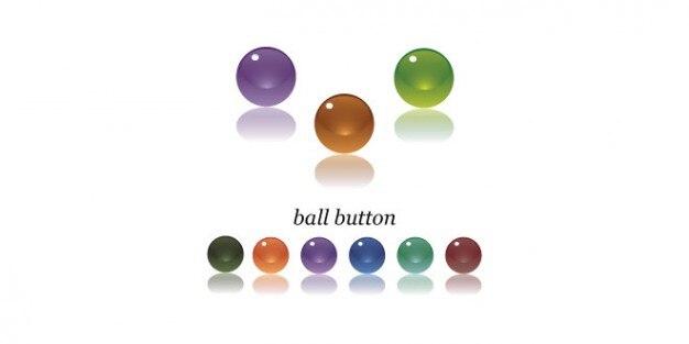 Botões de esfera multicolor psd