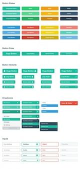 Botões de menu planas e insumos